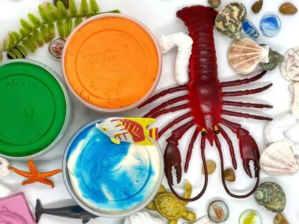 Ocean Life Playdough Activity Kit Box by Malaysia Toys