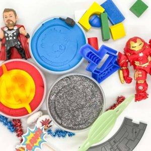 Superhero Playdough Activity Box Kit by Malaysia Toys
