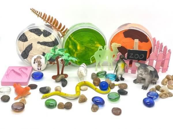 Zoo Playdough Activity Kit Box by Malaysia Toys