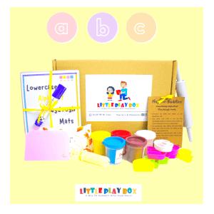 Alphabet Playdough Playbox Activity Box Kit by Malaysia Toys - Lowercase