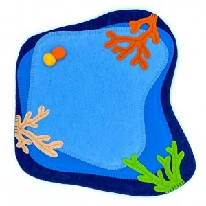 Coral Felt Play Mat by Malaysia Toys