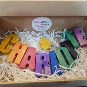Jumbo Beeswax Personalized Alphabet Name Crayons by Malaysia Toys