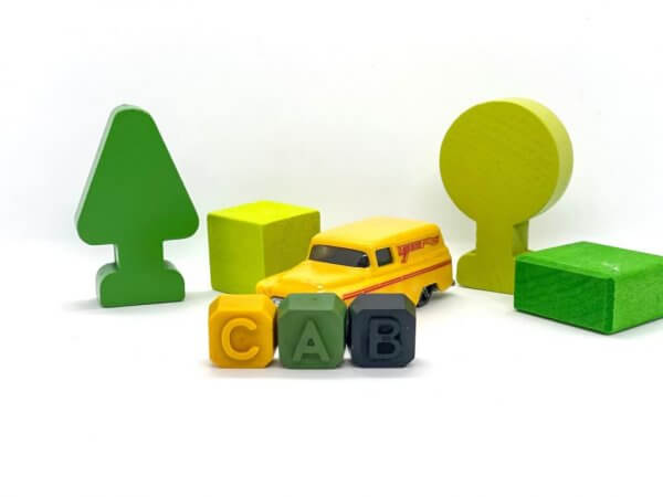 Mini Beeswax Personalized Alphabet Name Crayons by Malaysia Toys - Example