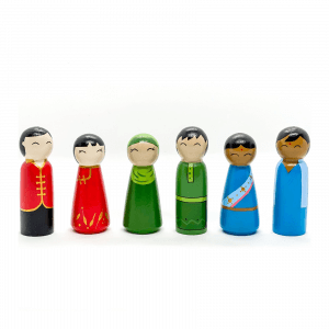 Multicultural Peg Dolls by Malaysia Toys
