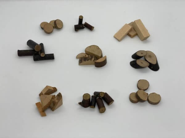 Natural Wood Pieces by Malaysia Toys - Example