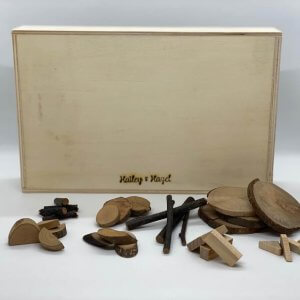 Natural Wood Pieces by Malaysia Toys - Large