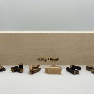 Natural Wood Pieces by Malaysia Toys - Small