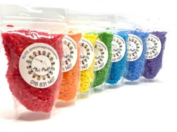 Rainbow Rice Sensory Fillers Materials by Malaysia Toys 2