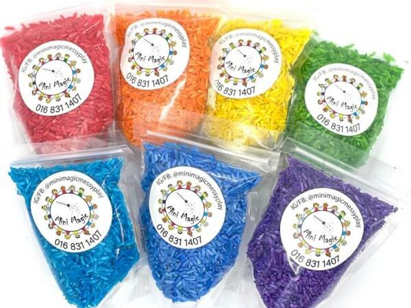 Rainbow Rice Sensory Fillers Materials by Malaysia Toys 3