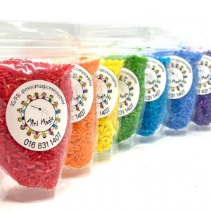 Rainbow Rice Sensory Fillers Materials by Malaysia Toys