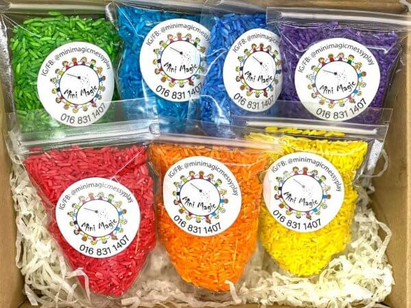Rainbow Rice Sensory Fillers Materials by Malaysia Toys 5