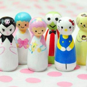 Sanrio Peg Dolls by Malaysia Toys