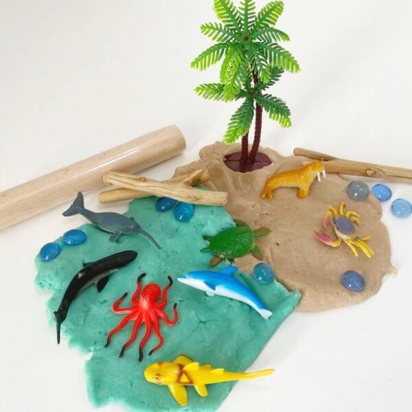 Seaside Playdough Activity Box Kit by Malaysia Toys