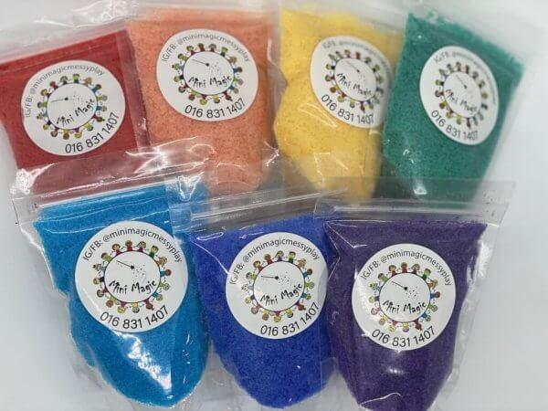 Sensory Rainbow Salt by Malaysia Toys