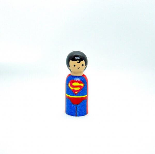 Superheroes Peg Dolls by Malaysia Toys - Superman