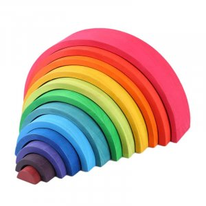 Wooden Rainbow Arch by Malaysia Toys