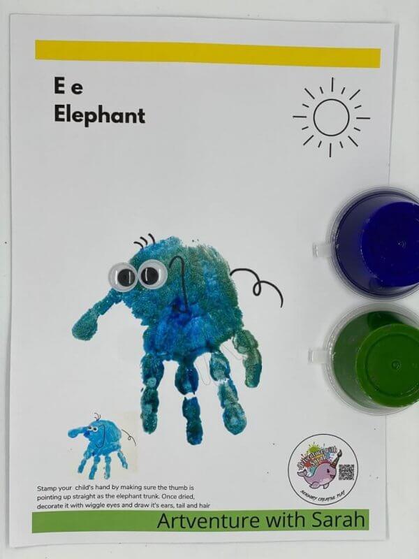 Zoo Fingerpainting Kit by Malaysia Toys - Elephant