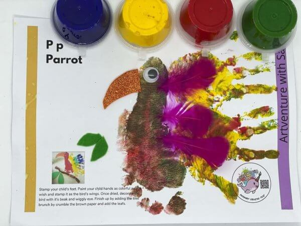 Zoo Fingerpainting Kit by Malaysia Toys - Parrot