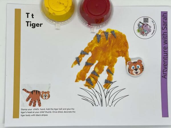 Zoo Fingerpainting Kit by Malaysia Toys - Tiger