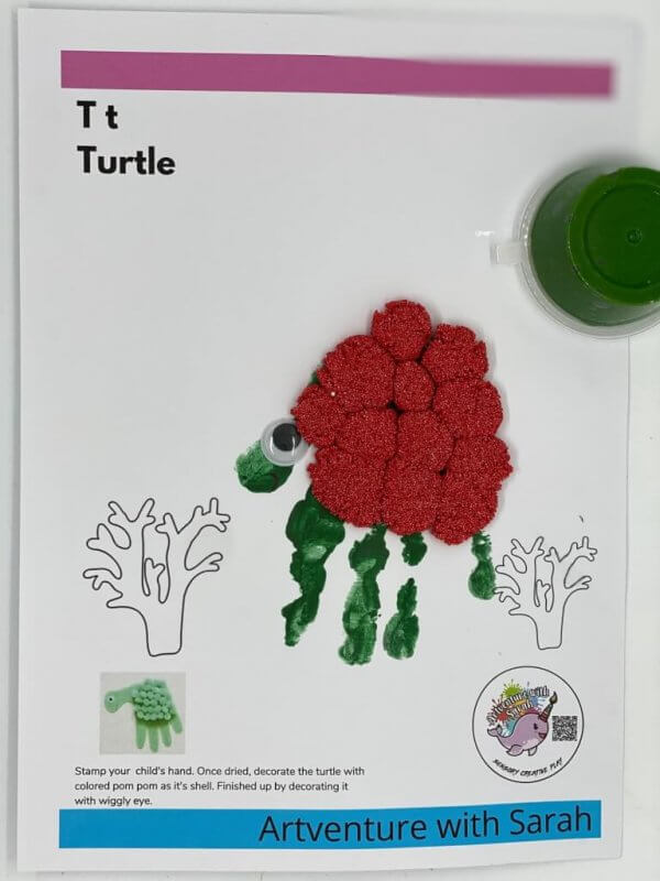 Zoo Fingerpainting Kit by Malaysia Toys - Turtle