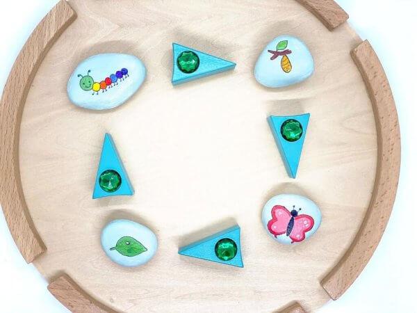 Butterfly Life Cycle Story Stones by Malaysia Toys