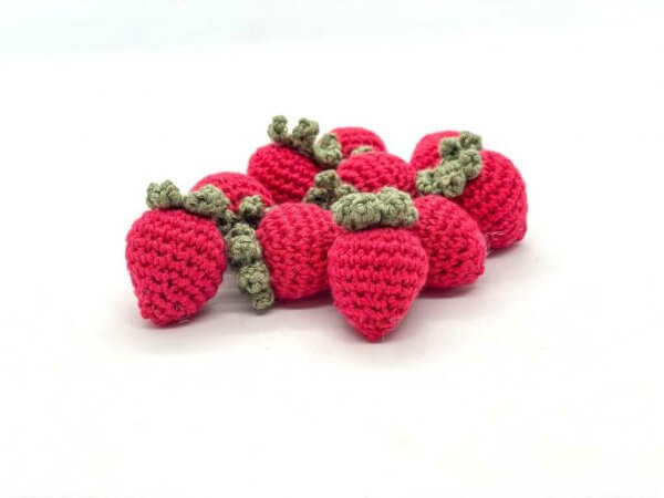 Crocheted Strawberries by Malaysia Toys