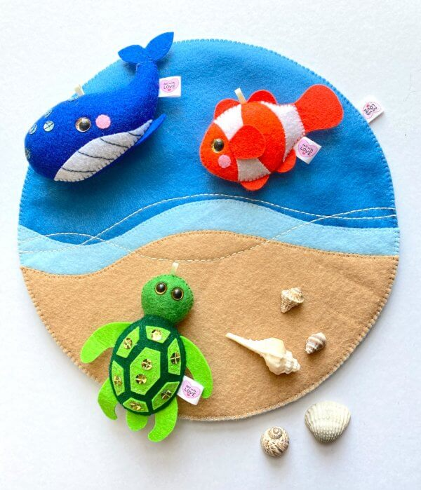 Felt Play Mats by Malaysia Toys - Seaside