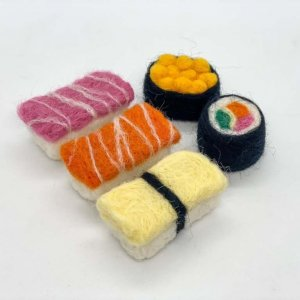 Felted Sushi Set by Malaysia Toys