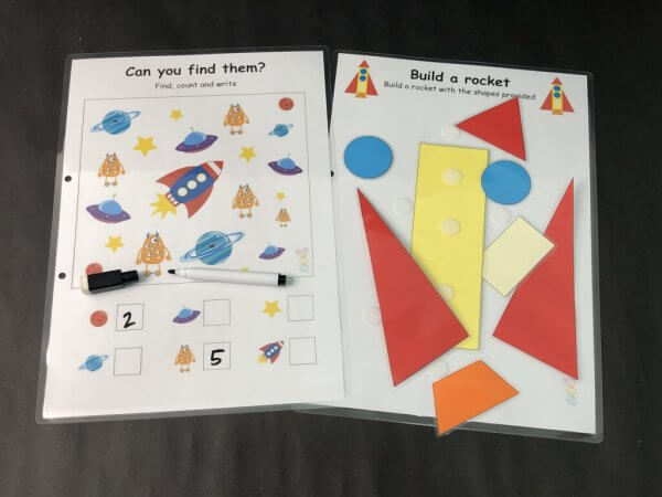 Galaxy Space Busy Book by Malaysia Toys Page - Counting and Patterning