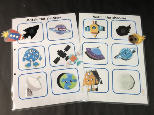 Galaxy Space Busy Book by Malaysia Toys Page - Shape Matching