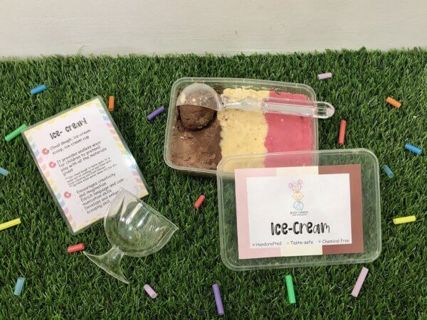 Let's Party Busy Activity Box by Malaysia Toys - Ice Cream Playdough Scoop