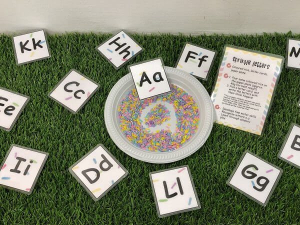 Let's Party Busy Activity Box by Malaysia Toys - Sprinkle Alphabets Tray