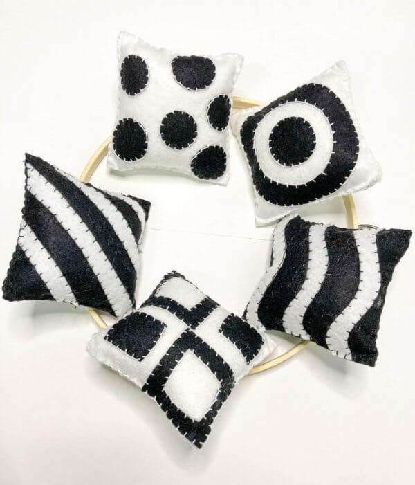 Montessori Baby Mobiles by Malaysia Toys - Black & White Munari Inspired Mobile