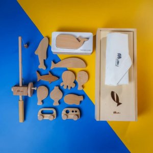 Wooden Magnetic Fishing Set by Malaysia Toys