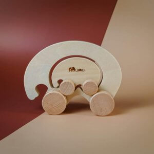 Wooden Wheeled Toy by Malaysia Toys