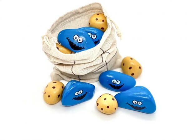 Cookie Monster Tic Tac Toe Story Stones by Malaysia Toys