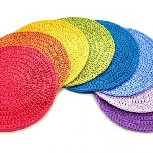 Large Crocheted Round Play Mats by Malaysia Toys