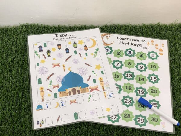 Special Edition Raya Busy Activity Box Kit by Malaysia Toys - Countdown Card