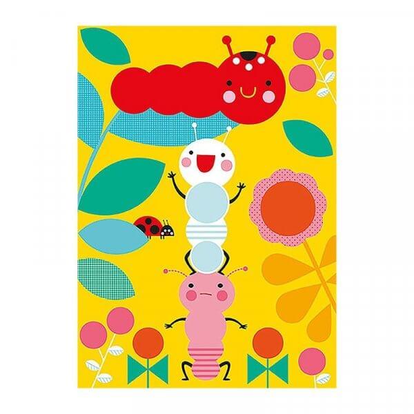Avenue Mandarine Creative Box Sticker Boards Caterpillars by Malaysia Toys