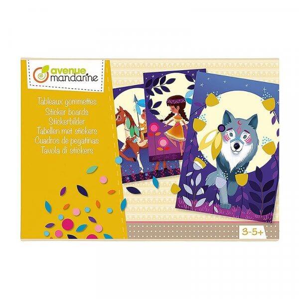 Avenue Mandarine Creative Box Sticker Boards Nature by Malaysia Toys