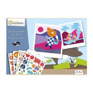 Avenue Mandarine Creative Box Sticker Boards Safari by Malaysia Toys