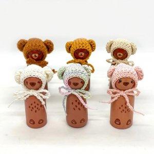 Crocheted Bear Peg Dolls by Malaysia Toys