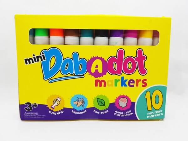 Dab-a-Dot Mini 10 pieces Marker by Malaysia Toys