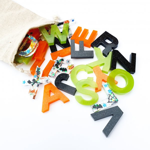 Halloween Resin Alphabets and Numbers by Malaysia Toys
