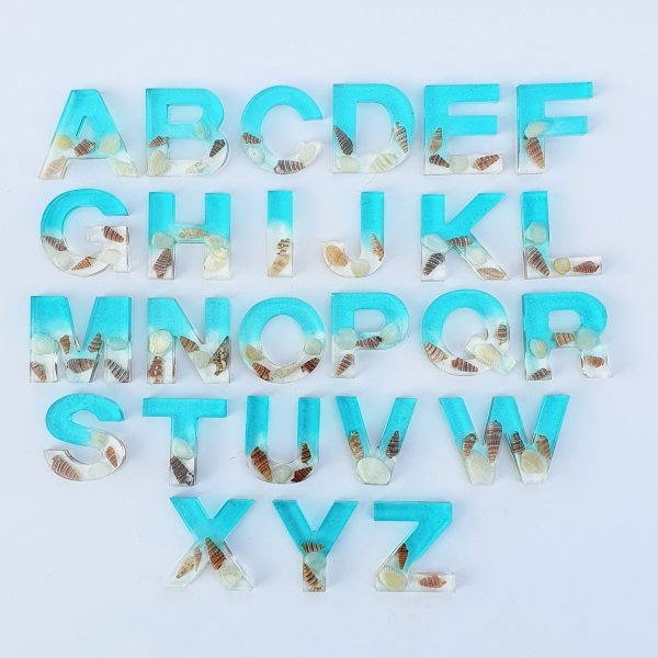 Ocean Resin Alphabets and Numbers by Malaysia Toys