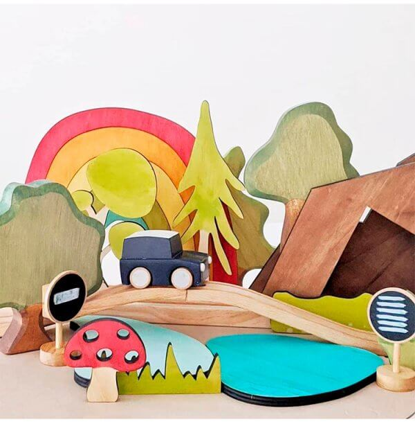 Rainbow Story Scene by Malaysia Toys