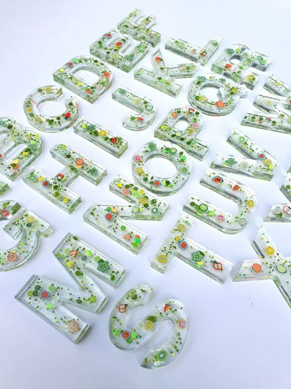 Resin Alphabets and Numbers by Malaysia Toys - Fruity