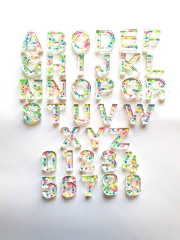 Resin Alphabets and Numbers by Malaysia Toys - Little Stars