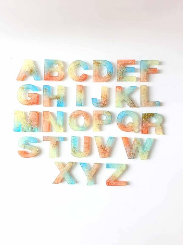 Resin Alphabets and Numbers by Malaysia Toys - Ombre