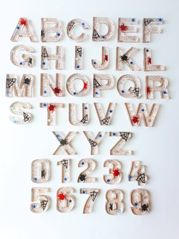 Resin Alphabets and Numbers by Malaysia Toys - Spiderman